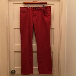 Levi's red cotton jeans. 505